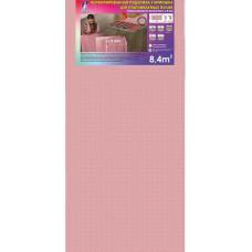 """Подложка """"SOLID"""" перфорированная для отапливаемых полов (лист 1.05м*8.0м.*1.8мм, упак.=8.4м2) РОЗОВАЯ"""